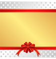 christmas background with red ribbons and stars vector image