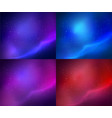 collection outer space backgrounds vector image vector image