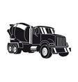 concrete mixer truck vector image