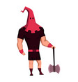 court executioner color flat icon medieval vector image vector image