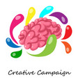 Creative campaign icon isometric 3d style