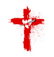 cross of jesus christ pierced the heart vector image