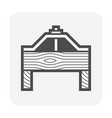detailing roof tile fixing support and wood vector image