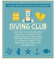 Diving club poster vector image vector image
