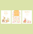 easter market invitation banners vector image vector image