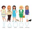 Five Figures everyday wearing vector image vector image