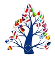 Flags on the tree vector image vector image