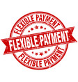 flexible payment round grunge ribbon stamp vector image vector image