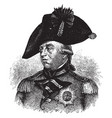 george iii king of england vintage vector image vector image