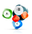 glass glossy abstract stones with text abstract vector image vector image