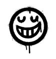 graffiti smiling face emoticon sprayed isolated vector image vector image