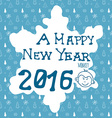 hand drawn sketch design happy new year 2016 vector image
