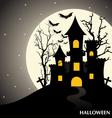 Happy Halloween design background vector image