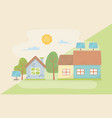 house and save energy design vector image