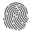 human fingerprint icon identification and vector image vector image