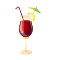 icon cocktail vector image vector image