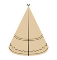 isolated indian hat vector image