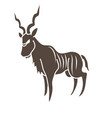 kudu cartoon graphic vector image vector image