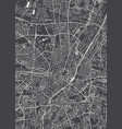 munich city plan detailed map vector image vector image