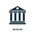 museum icon monochrome style design from city vector image
