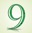 Number of Collection made of swirls - 9 vector image