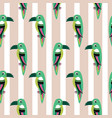 parakeet parrot pattern seamless bird vector image