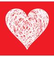 pen drawn heart vector image vector image