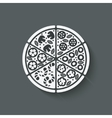 pizza design element vector image