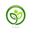 plant leaf people ecology spa logo vector image