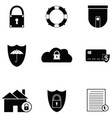 protection icon set vector image vector image