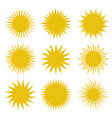 rays beams element sunburst set vector image