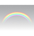 realistic rainbow isolated on transparent vector image