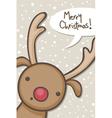Reindeer christmas vector image