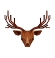 reindeer head low poly isolated icon vector image