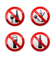 Set prohibited signs - dont drinks vector | Price: 1 Credit (USD $1)
