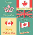 set vintage posters for victoria day vector image