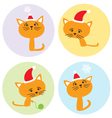 set with kittens vector image vector image