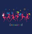 silhouettes dancing women vector image vector image