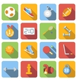 Sport flat icons set vector image vector image