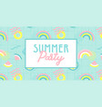 summer party banner funny wallpaper vector image