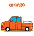 Transportation of orange car art vector image vector image