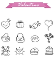 valentine hand draw vector image vector image