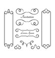 vintage frames and flourishes on white vector image