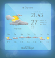 Weather widget template 4 vector image vector image
