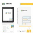 website business logo tab app diary pvc employee vector image vector image