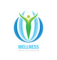 wellness business logo template design element vector image