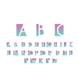 White alphabetic font vector image