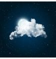 Shiny Full Moon vector image