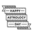 Happy astrology day greeting emblem vector image