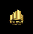 real eastate building logo vector image